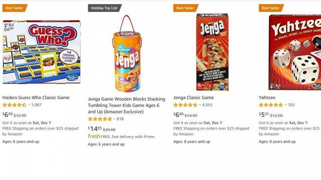 Games on Sale (photo courtesy Amazon)