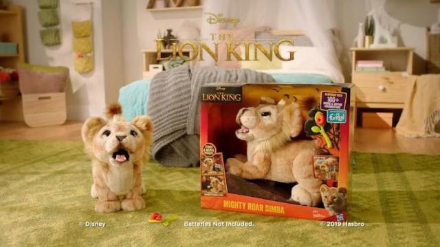 Disney The Lion King Mighty Roar Simba Interactive Plush Toy