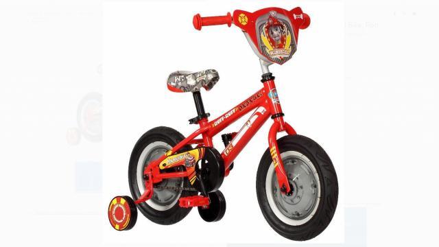 """Nickelodeon PAW Patrol 12"""" Marshall Bike, Red (photo courtesy Walmart)"""