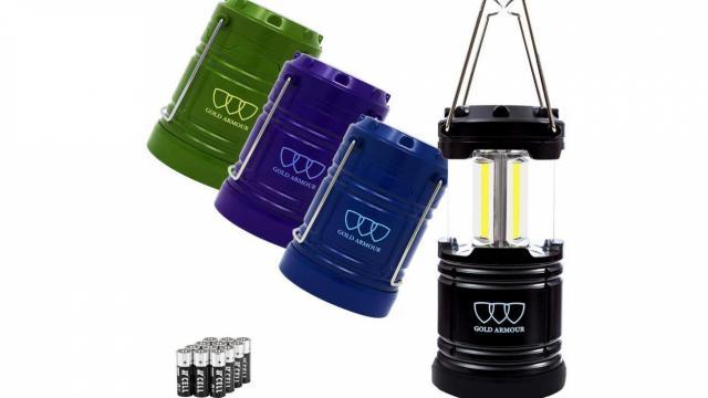 Gold Armour 4 Pack LED Camping Lanterns (photo courtesy Amazon)