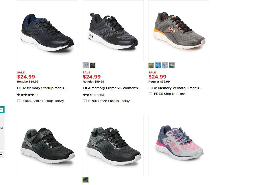 FILA Athletic Shoes for adults \u0026 kids
