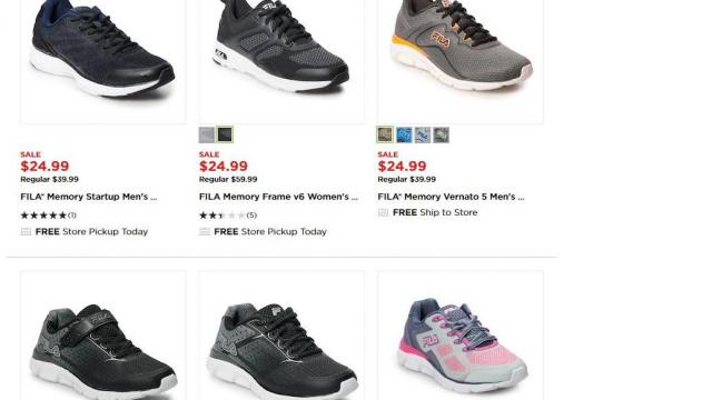 FILA Athletic Shoes for adults & kids as low as $15.93 (reg