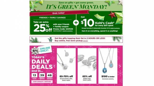 Kohl's Green Monday Sale (photo courtesy Kohl's)