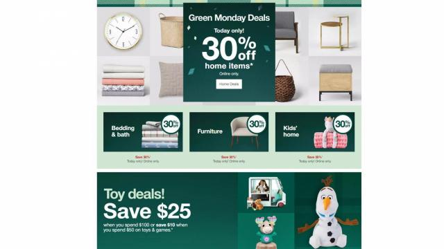 Target Green Monday Sales (photo courtesy Target)