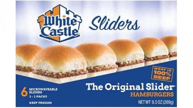 White Castle Sliders 6 count (photo courtesy FDA.gov)
