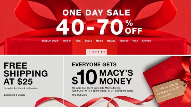 Macy's Sale (photo courtesy Macy's)