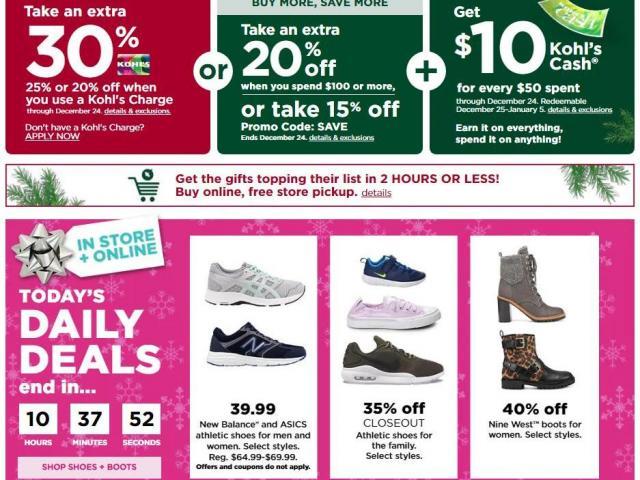 Kohl's: Shoe \u0026 boot sale TODAY, 30% off