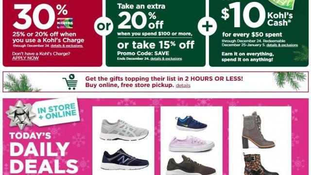 Kohl's Sales (photo courtesy Kohl's)