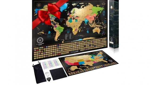 Scratch Off World Map and United States Map Set (photo courtesy Amazon)