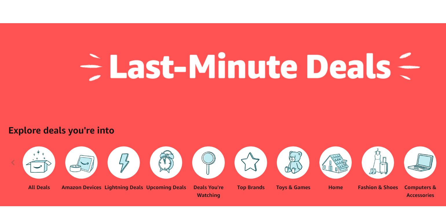 Last minute deals online & in stores + $10 reward card for