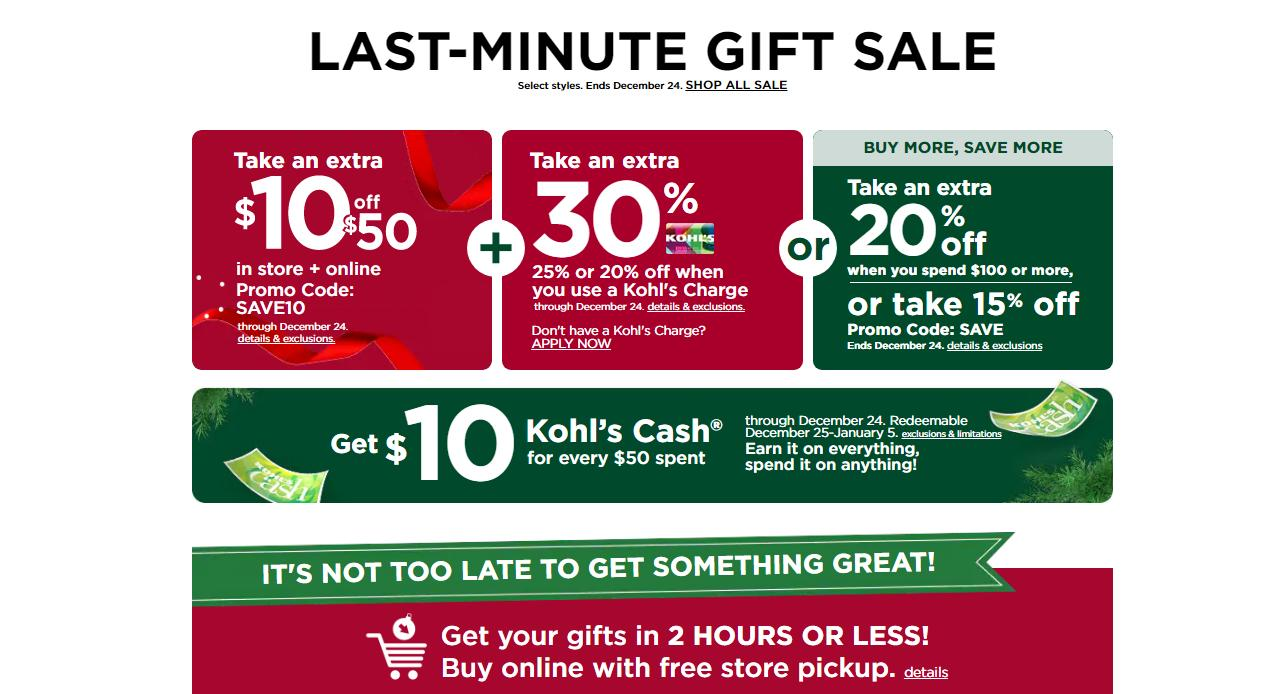 Kohl S Order Online Pick Up In Stores Today 10 Off 50 Coupon 30 Off Coupon Kohl S Cash Wral Com