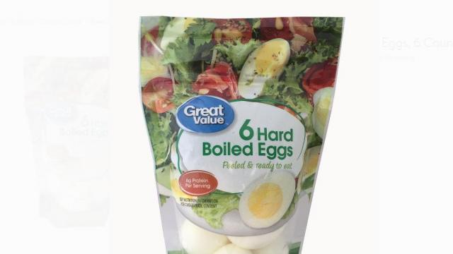 Great Value, Hard Boiled Eggs, 6 Count (photo courtesy Walmart)