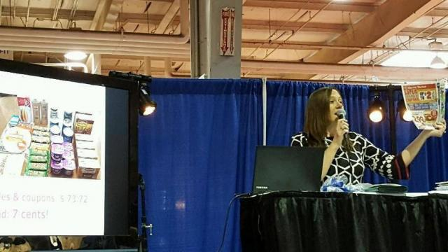 Faye teaching at the Southern Women's Show