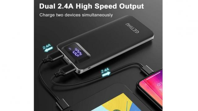 Power Bank 10000 mAh Portable Charger (photo courtesy Amazon)