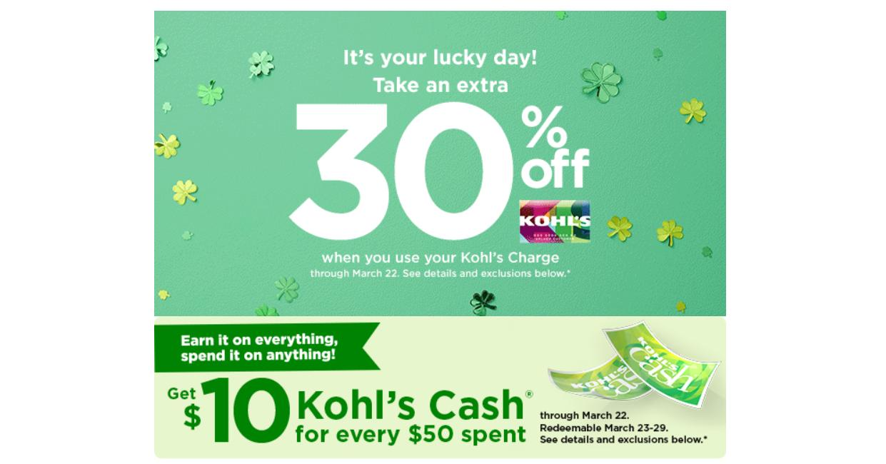 Kohl S 30 Off Coupon 10 Kohl S Cash 10 Coupons For Women S Men S Kids Clothing Wral Com