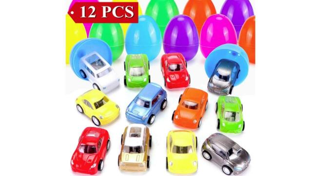 Filled Easter Eggs with Toy Cars
