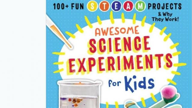 Awesome Science Experiments for Kids (photo courtesy Amazon)