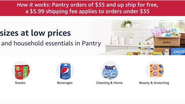 Amazon Pantry grocery and household essentials (photo courtesy Amazon)