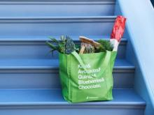 Instacart delivery on stairs