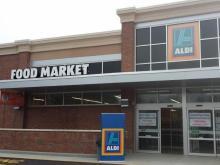 ALDI store front in Garner, NC