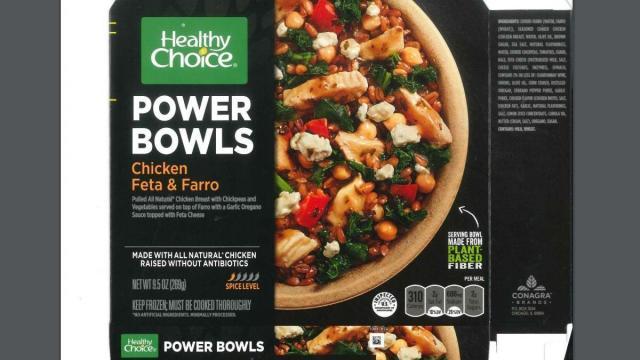Healthy Choice POWER BOWLS Chicken Feta & Farro (photo courtesy fsis.usda.gov)