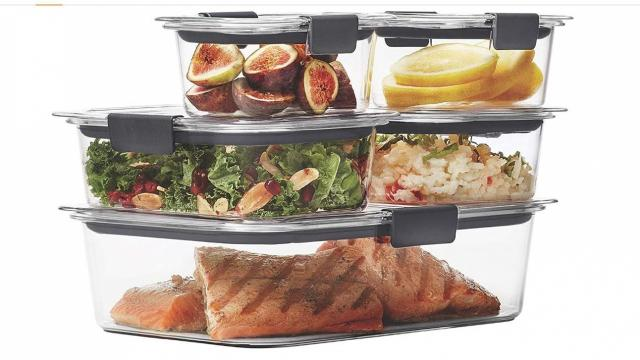 Rubbermaid Brilliance Leak-Proof Food Storage Containers with Airtight Lids (photo courtesy Amazon)