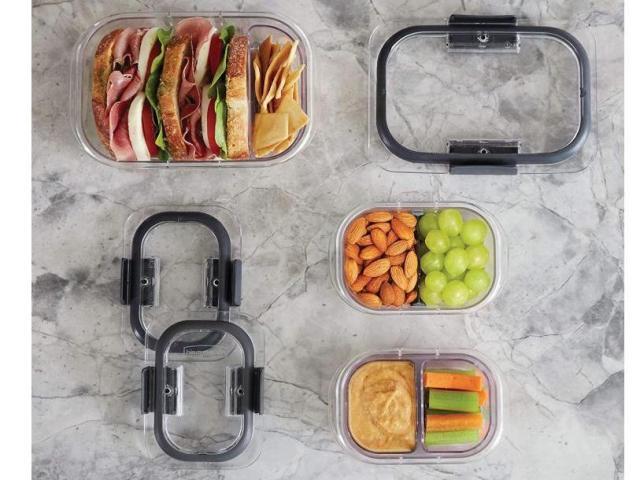 Rubbermaid Brilliance Bento Box Style Food Storage Containers 10 Piece Set (photo courtesy Amazon)