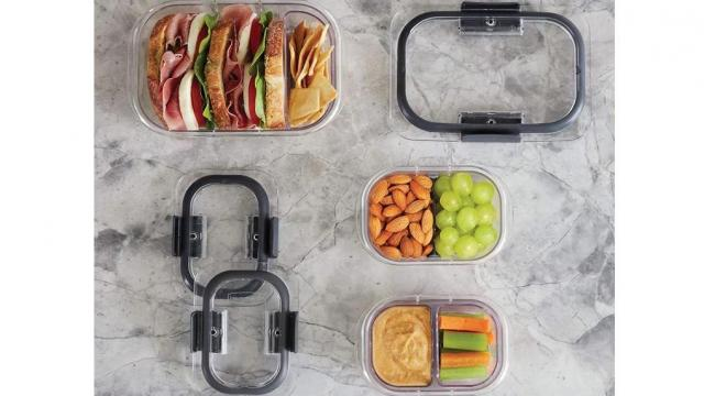 Rubbermaid Brilliance Bento Box Style Food Storage Containers 10 Piece Set