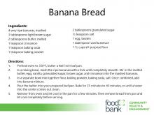 Banana Bread recipe from the Food Bank of Central & Eastern North Carolina.