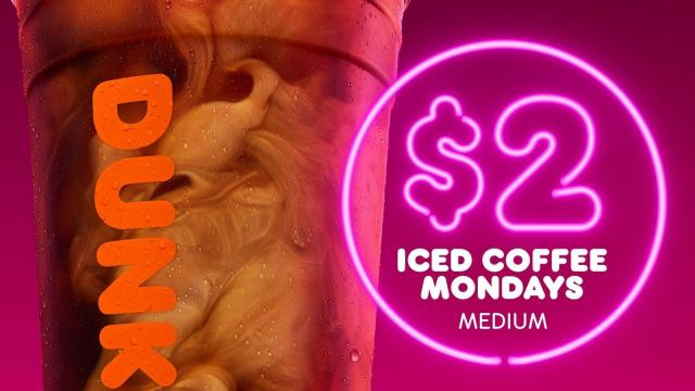 Dunkin' Iced Coffee Offer (photo courtesy Dunkin')