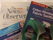 The News & Observer newspaper and coupon inserts
