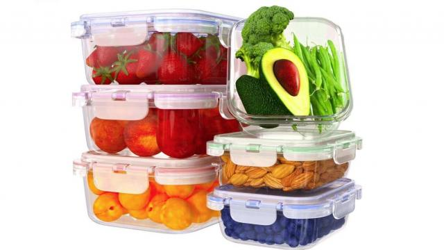 Glass Food Storage Containers 6 Pack with Lids