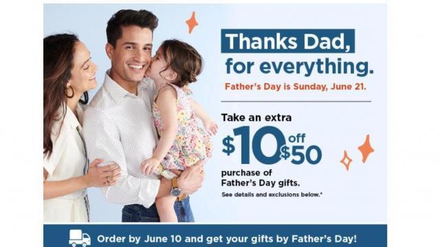 Kohl's Father's Day Offer (photo courtesy Kohl's)