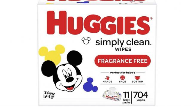 Huggies Simply Clean Unscented Baby Wipes 11 Flip-Top Packs 704 Wipes Total (photo courtesy Amazon)