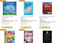 Amazon Promotion for Books, Movies and Video Games (photo courtesy Amazon)