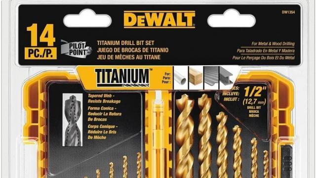 DEWALT Drill Bit Set Titanium14-Piece (photo courtesy Amazon)