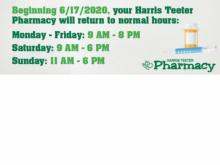 Harris Teeter Pharmacy Announcement (photo courtesy Harris Teeter)