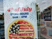 July 4th Hours Sign