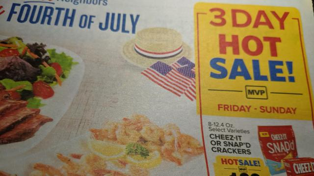 Food Lion Sale in ad