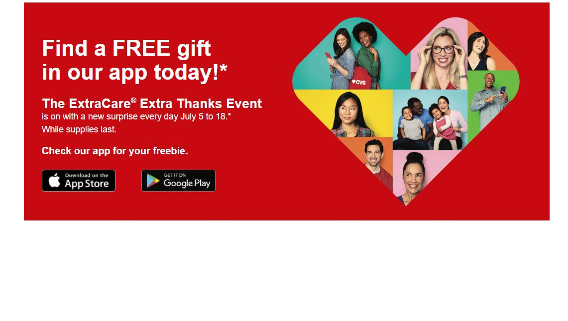 Free Item From Cvs Every Day Through July 18 Wral Com