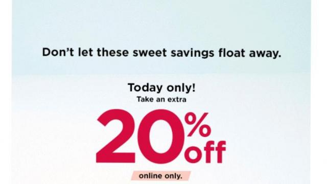 Kohl's Offer (photo courtesy Kohl's)