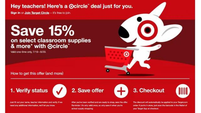 Target Teacher Discount (photo courtesy Target)