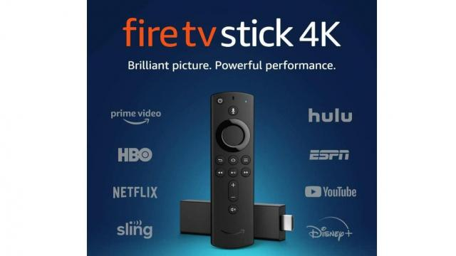Fire TV Stick 4K streaming device with Alexa (photo courtesy Amazon)