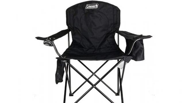 Coleman Portable Camping Quad Chair with 4-Can Cooler (photo courtesy Amazon)