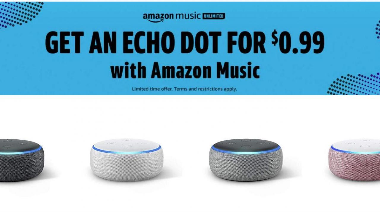 Echo Dot only $0.99 with 2 months of Amazon Music Unlimited (70% off)! ::  WRAL.com