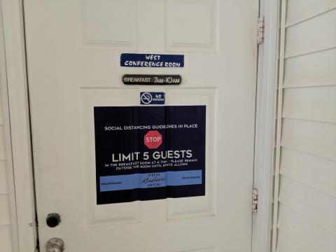 Ocean Isle Inn Breakfast Room Door