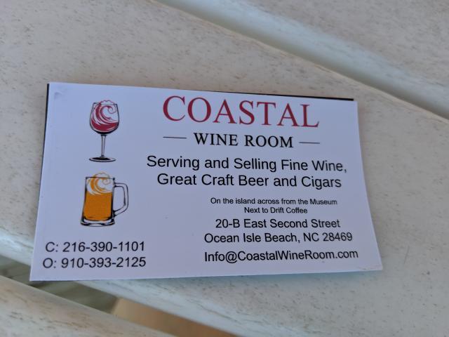 Coastal Wine Room card