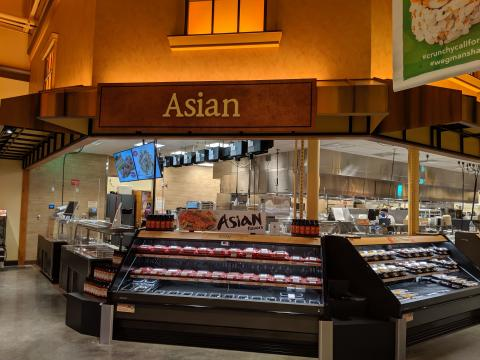Asian Prepared Food Section