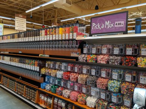 Pick a Mix and Bulk Snack Section