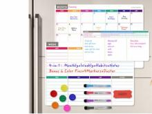 Magnetic Dry Erase Whiteboard Set